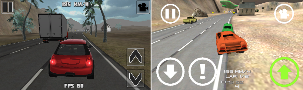 Traffic Race 3D 2 vs Traffic Race 3D 2 Next Gen
