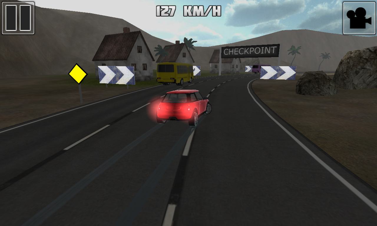 Traffic Race 3D in action