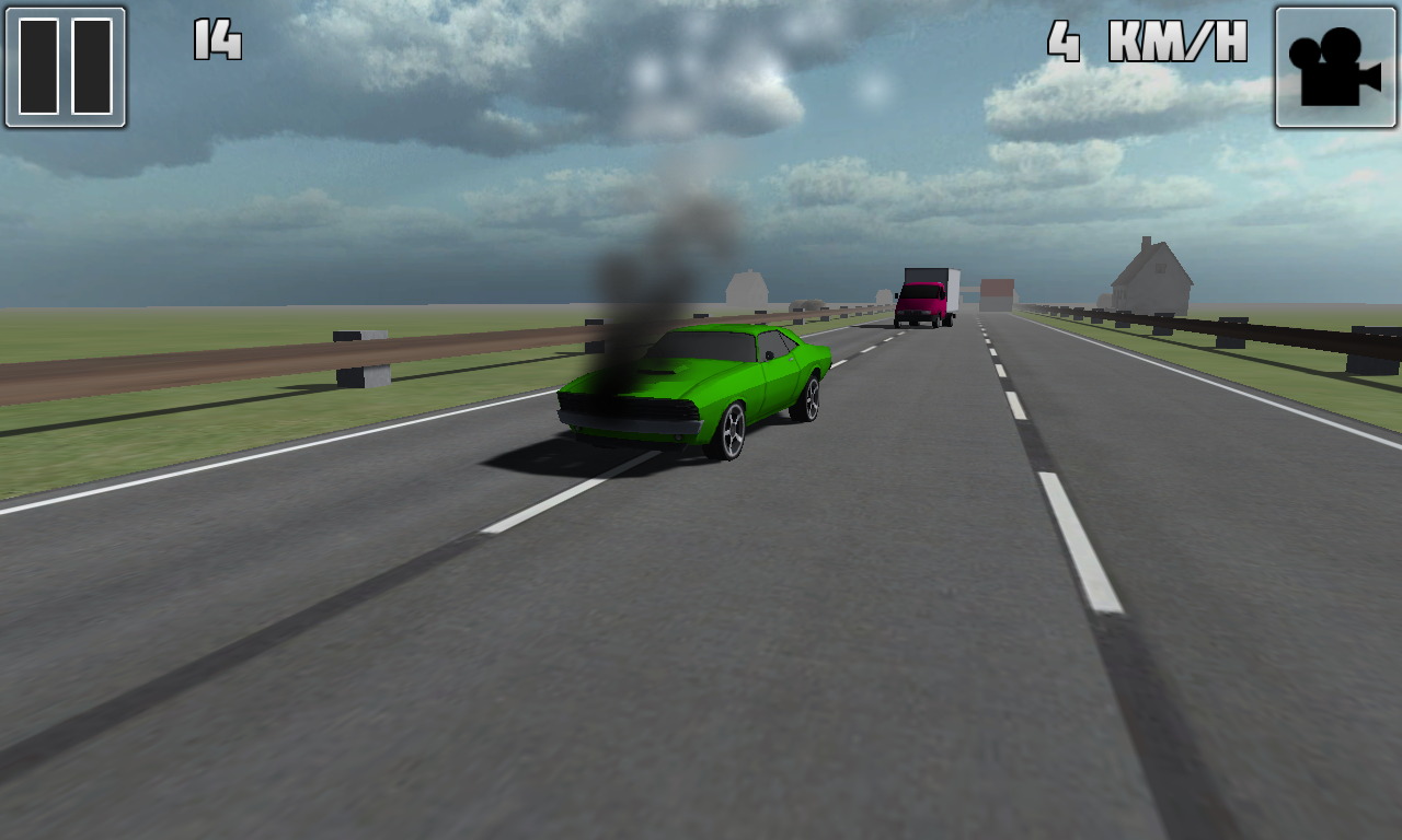 Traffic Race 3D 2 broken car